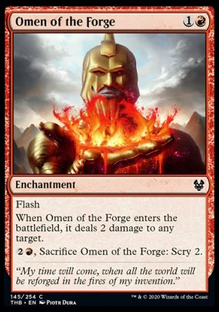 Omen of the Forge MTG card