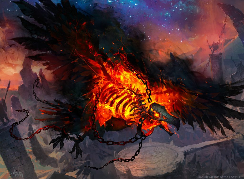 Phoenix of Ash MTG card art by Svetlin Velinov