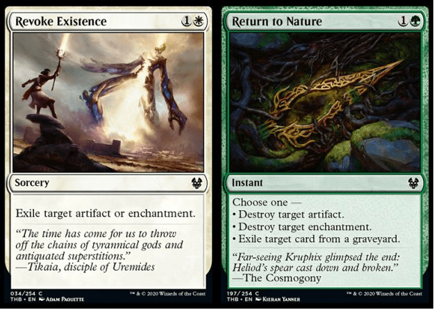 Revoke Existence and Return to Nature MTG cards