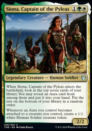 Siona, Captain of the Pyleas MTG card