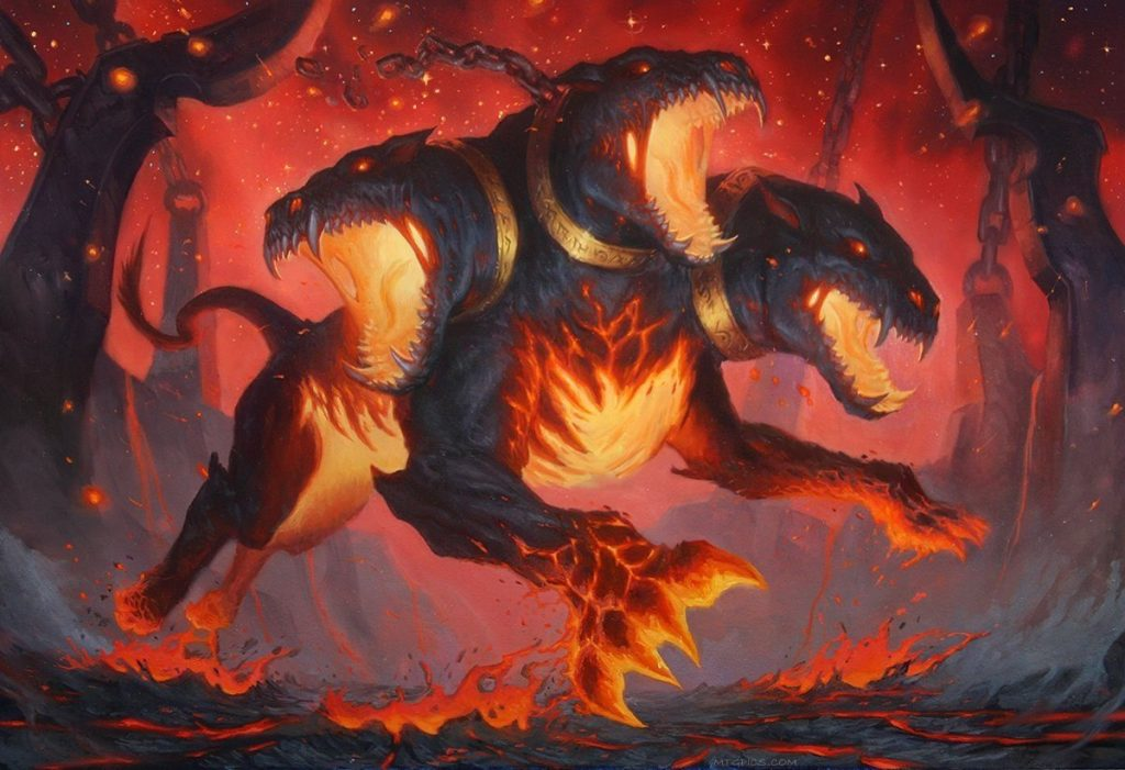 Underworld Rage-Hound MTG card art by Tyler Walpole