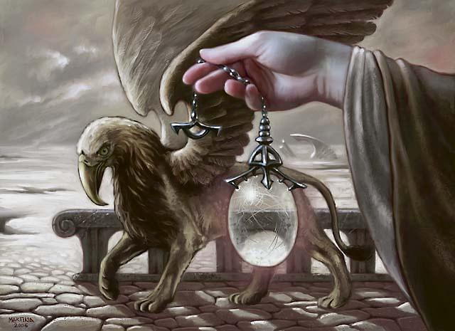 Veilstone Amulet MTG card art by Martina Pilcerova