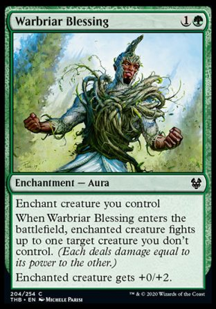 Warbriar Blessing MTG card