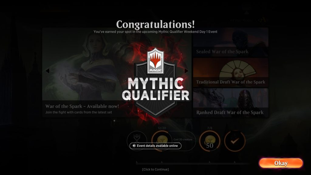 MTG Arena Mythic Qualifier notification