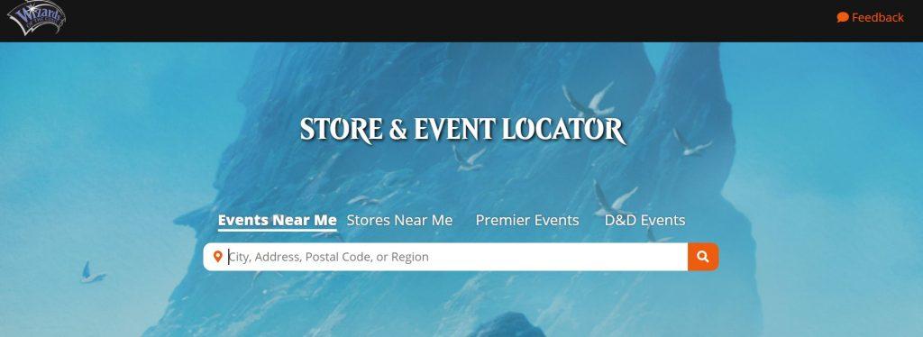 Wizards store locator