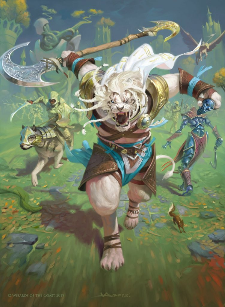 Ajani, the Greathearted MTG card art by Victor Adame Minguez