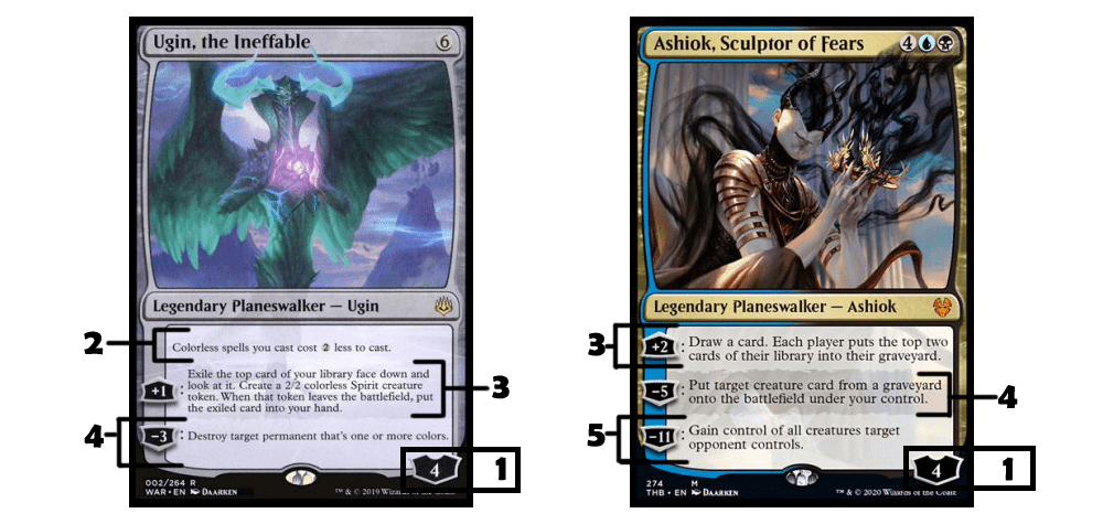 Anatomy of Ugin, the Ineffable and Ashiok, Sculptor of Fears MTG cards