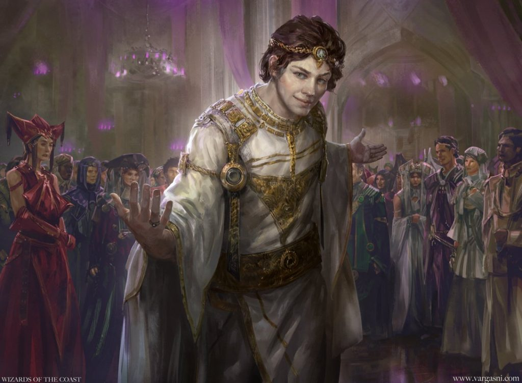 Charming Prince MTG card art by Randy Vargas