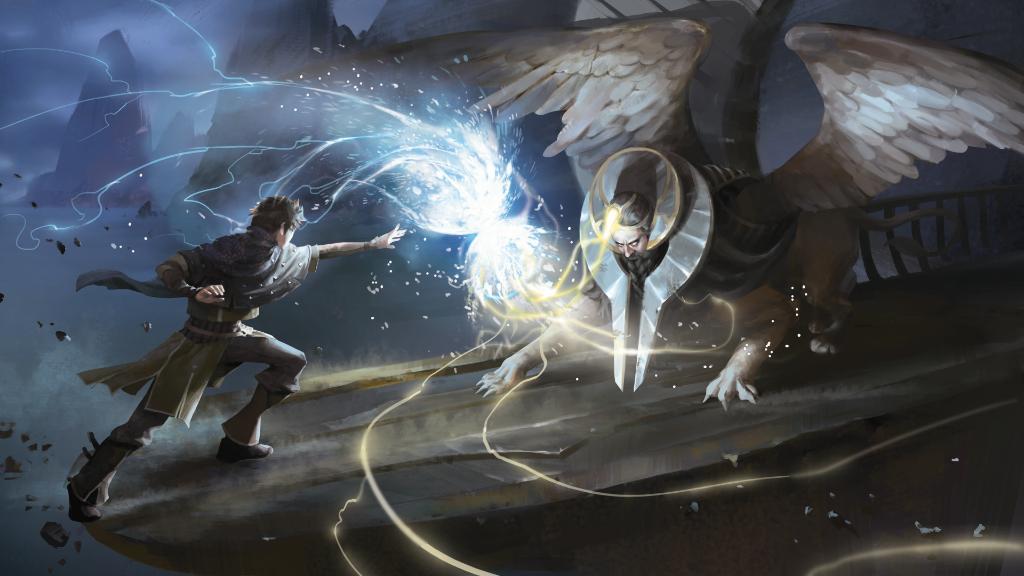 Clash of Wills MTG card art by Yan Li
