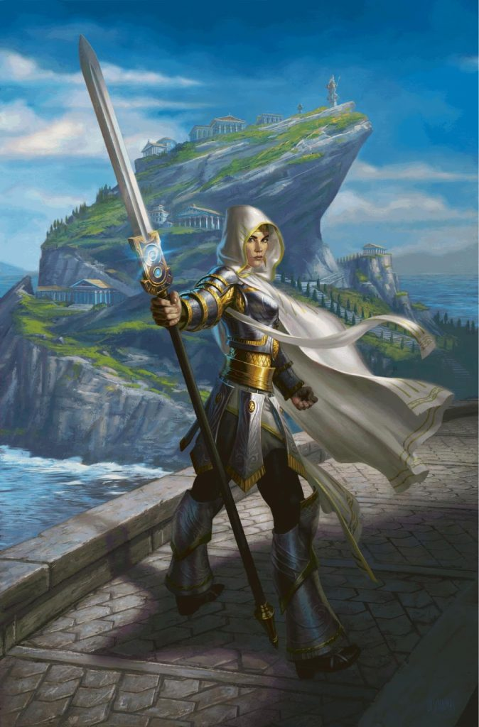 Elspeth, Sun's Champion (Theros) MTG card art by Eric Deschamps