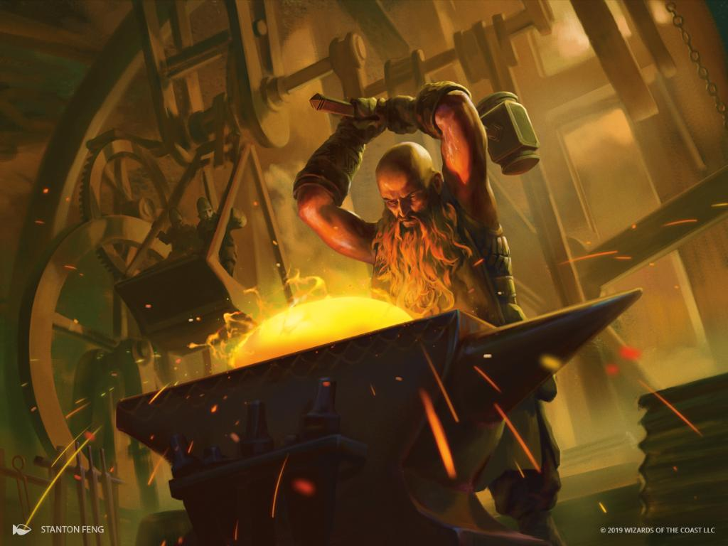 Fires of Invention MTG card art by Stanton Feng