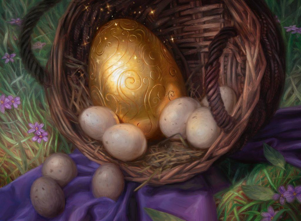 Golden Egg MTG card art by Lindsey Look