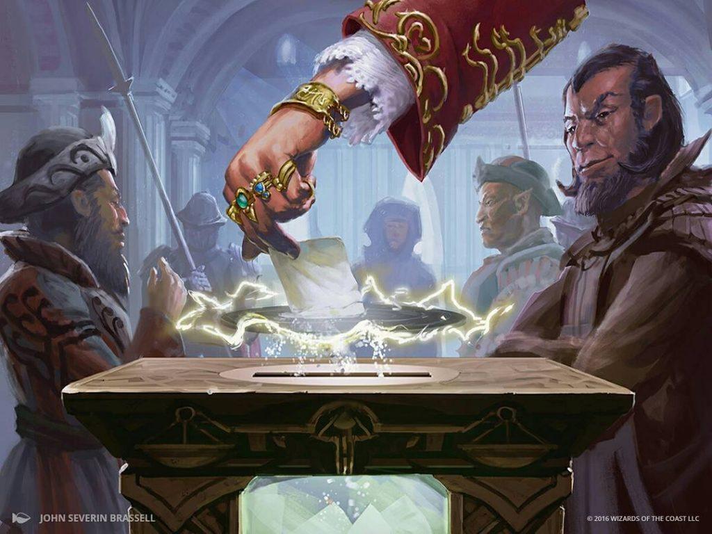 Illusion of Choice MTG card art y John Severin Brassel