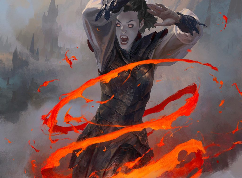 Lava Coil MTG card art by Wesley Burt