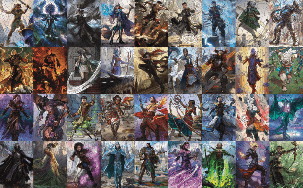 MTG Planeswalkers stained glass art wallpaper