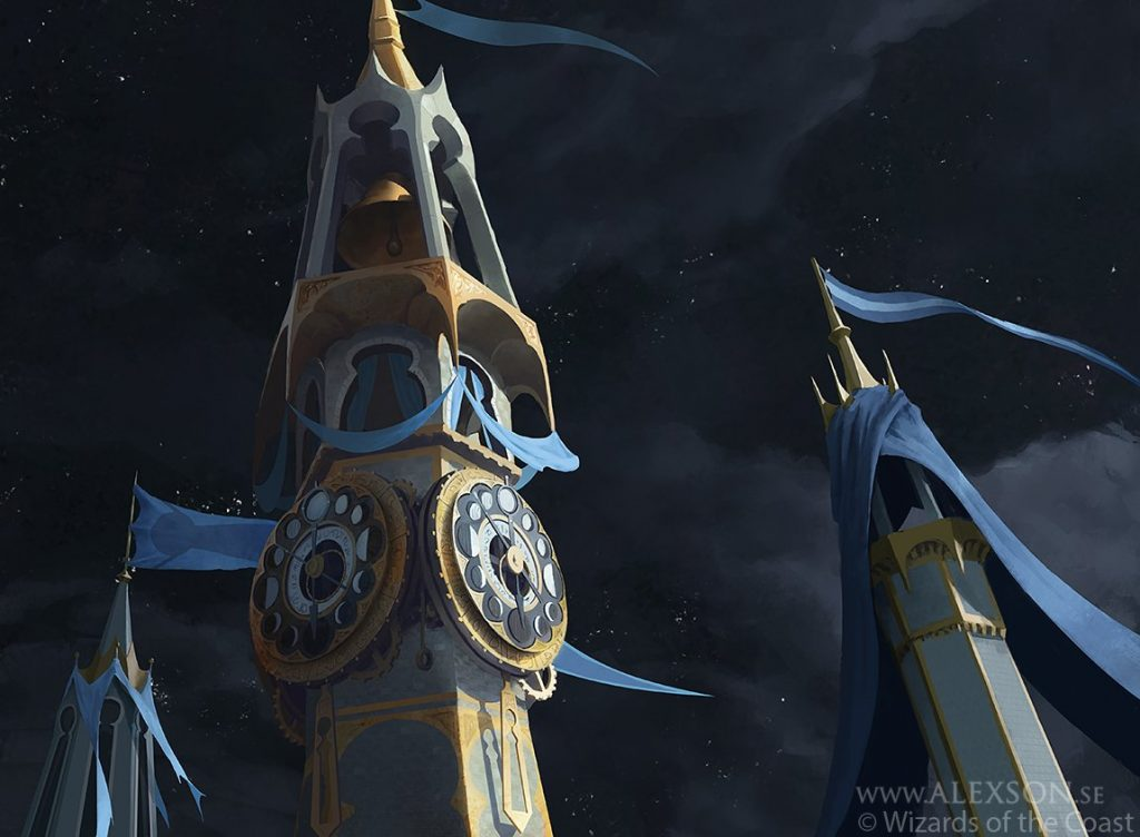 Midnight Clock MTG card art by Alexander Forssberg