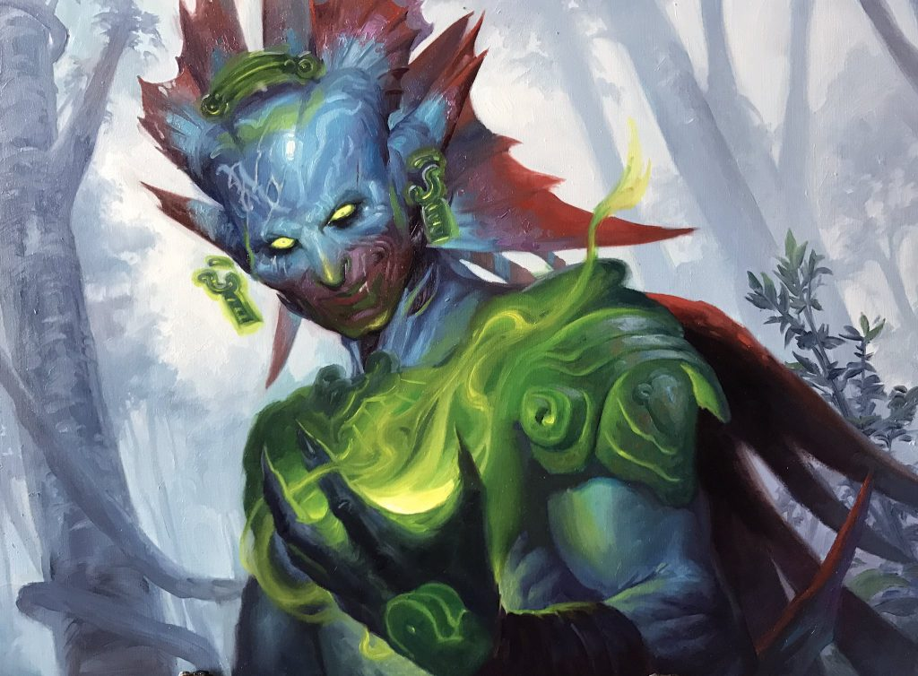 Overflowing Insight MTG card art by Lucas Graciano