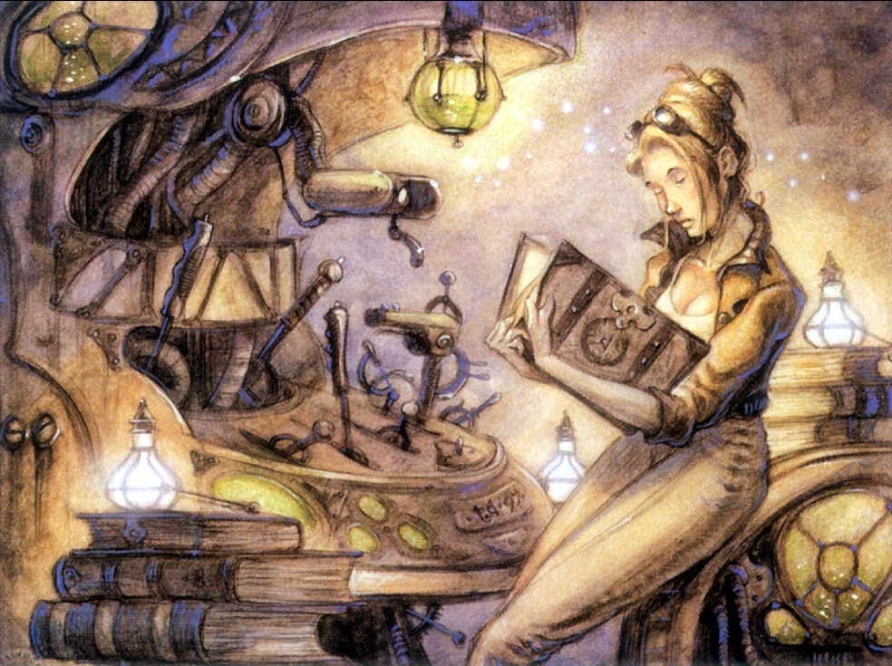 Pursuit of Knowledge MTG card art by DiTerlizzi