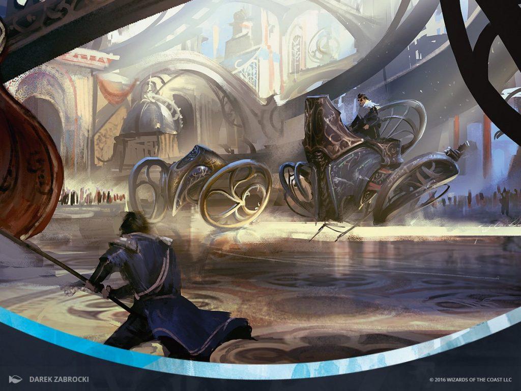 Start Your Engines MTG card art by Darek Zabrocki