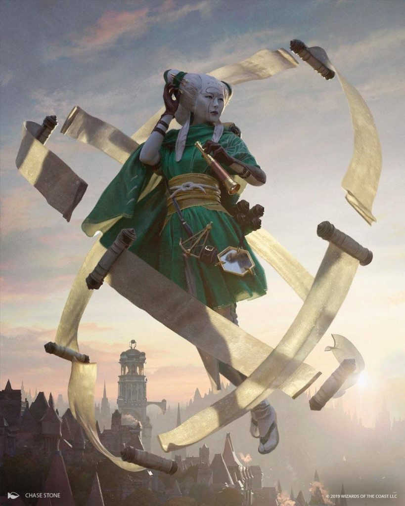 Tamiyo, Collector of Tales MTG card art by Chase Stone