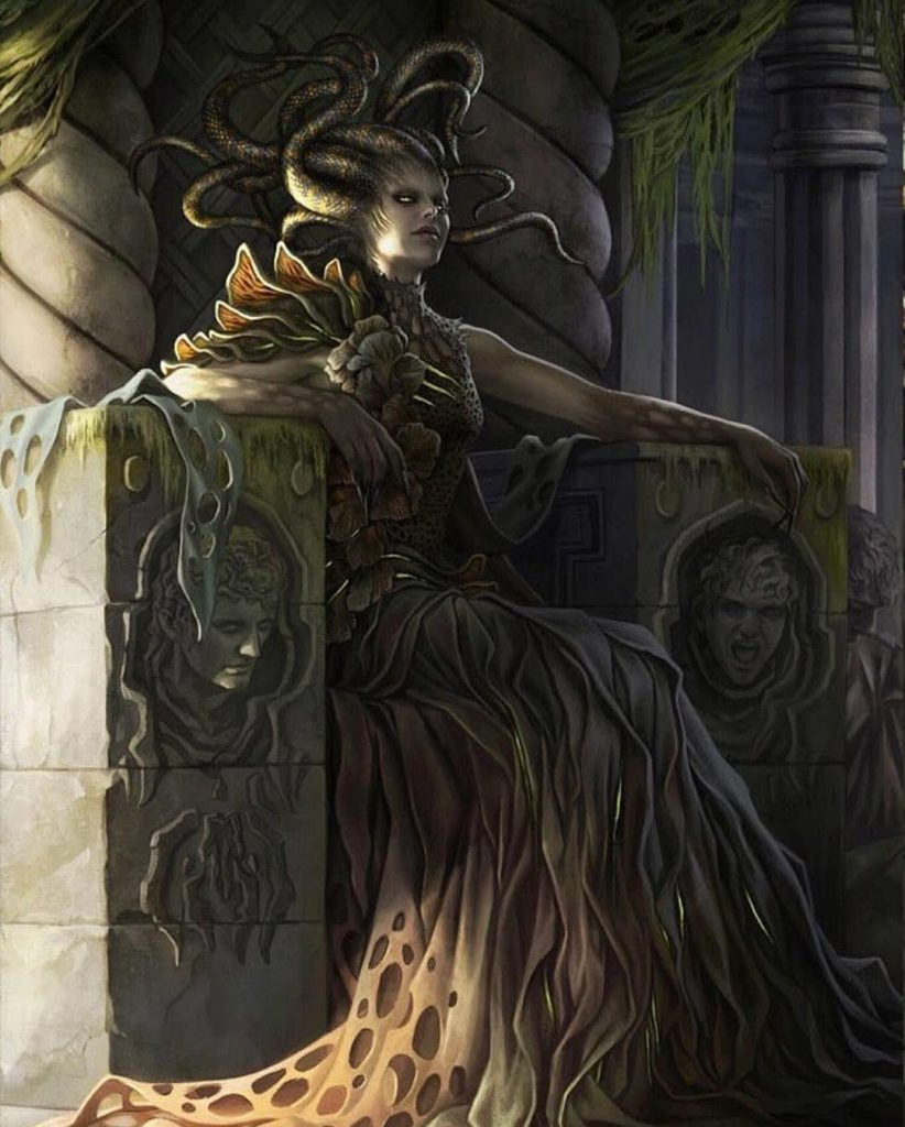 Vraska, Golgari Queen MTG card art by Magali Villeneuve