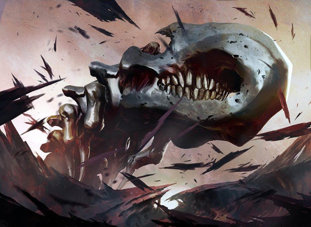 Batterskull MTG card art by Igor Kieryluk