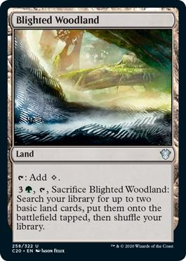 Blighted Woodland MTG card
