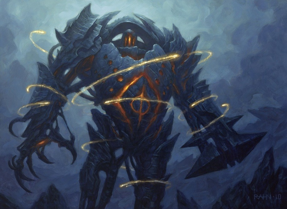 Blightsteel Colossus MTG card art by Chris Rahn