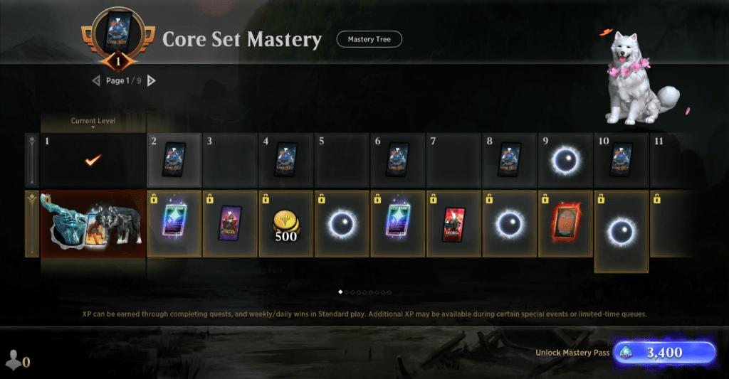 Core Set 2021 Mastery track