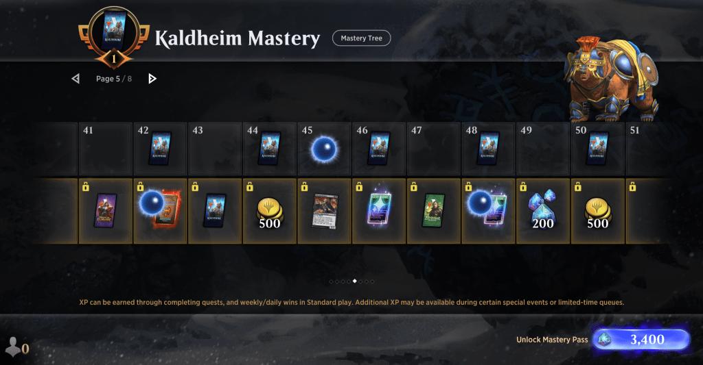 Kaldheim Mastery Pass level 44