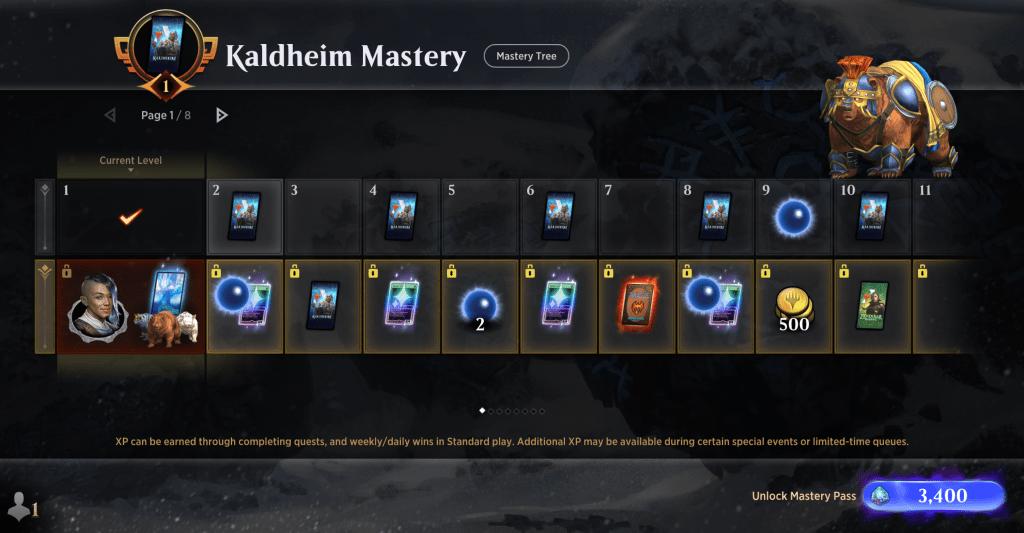 Kaldheim Mastery Pass levels