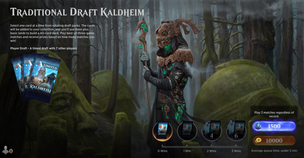 Kaldheim Traditional Draft MTGA event