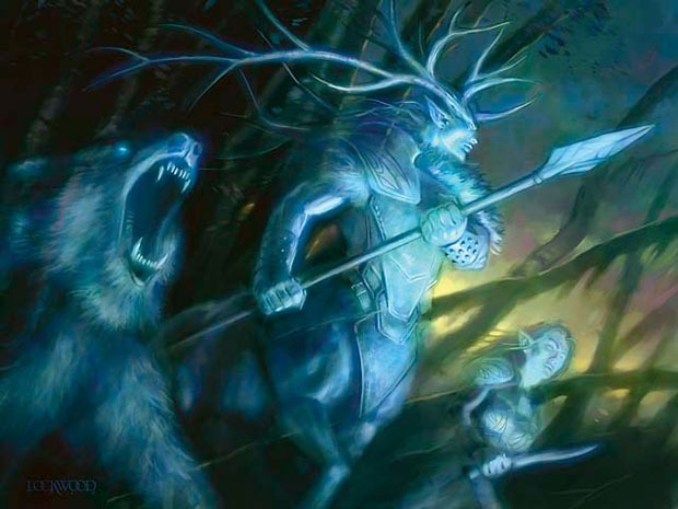 Karador, Ghost Chieftain MTG card art by Todd Lockwood
