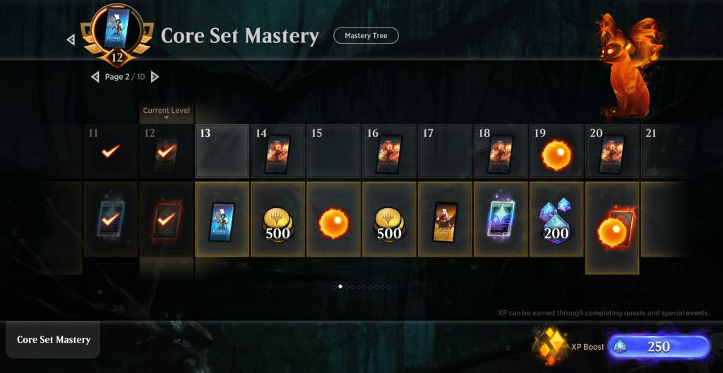 MTG Arena Core Set 2020 Mastery