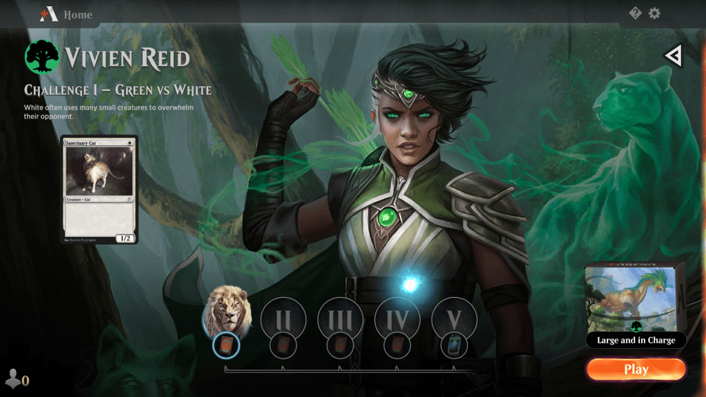 MTG Arena Green Color Challenge 1