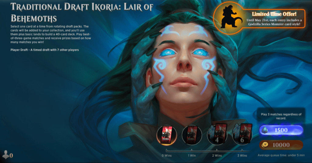 MTG Arena Ikoria traditional draft event