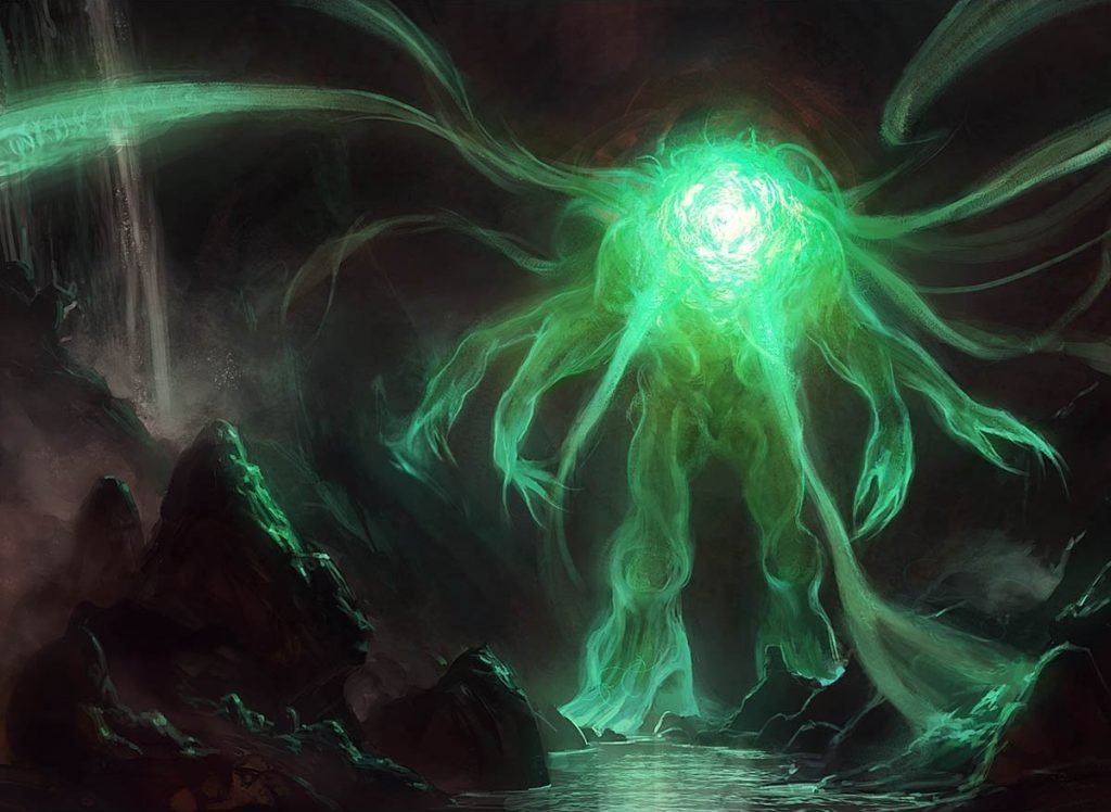 Omnath, Locus of Mana MTG card art by Mike Bierek