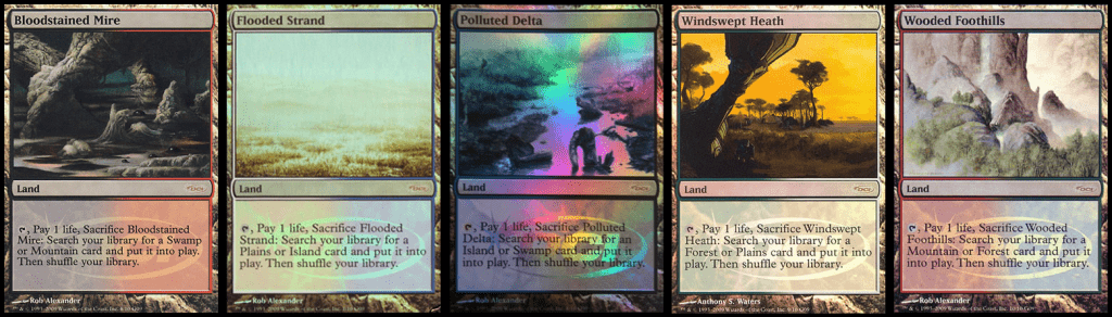 Onslaught fetch reprints in Magic Judge promos