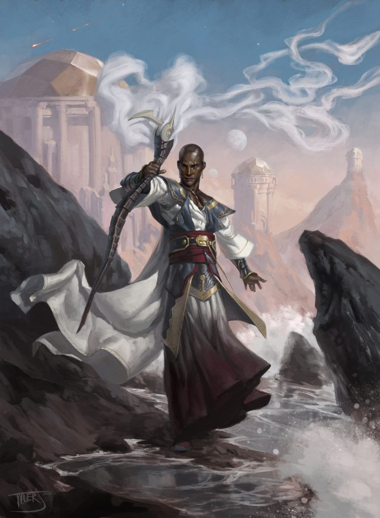 Teferi, Temporal Archmage MTG card art by Tyler Jacobson