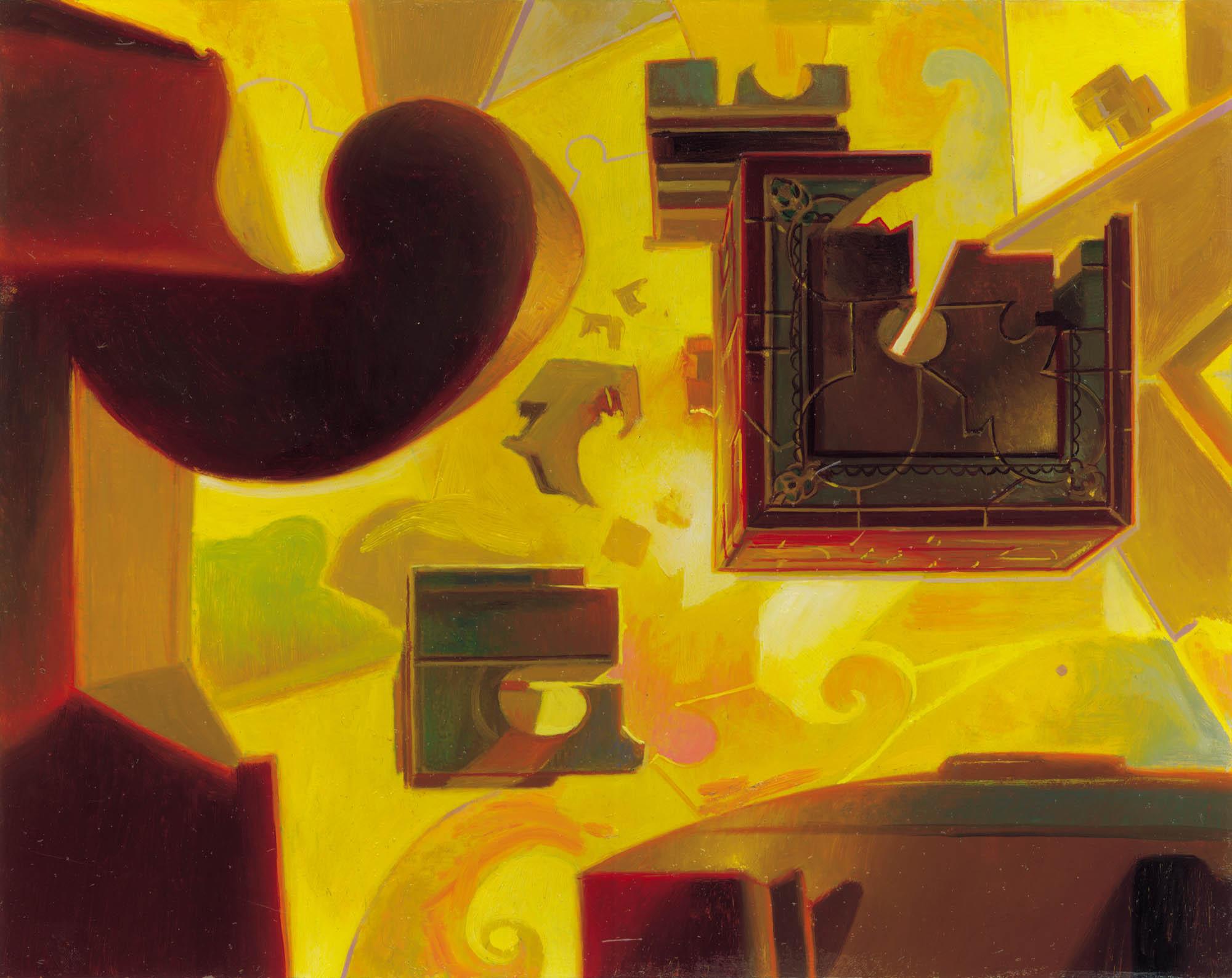 Teferi's Puzzle Box MTG card art by Donato Giancola