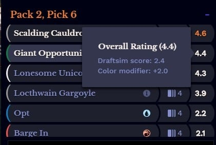 suggested pick from the draft companion