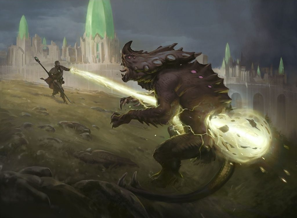 Divine Arrow MTG card art by Slawomir Maniak