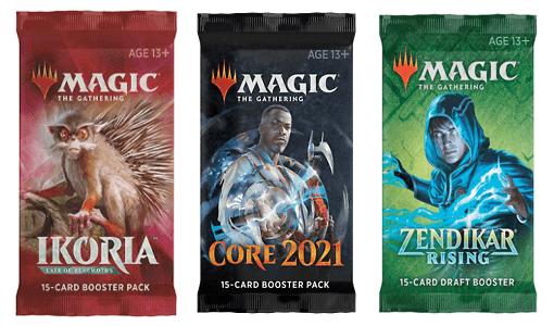 Ikoria, M21, ZNR booster packs