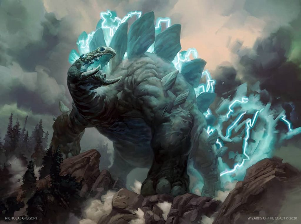 Kalamax, the Stormsire MTG card art by Nicholas Gregory