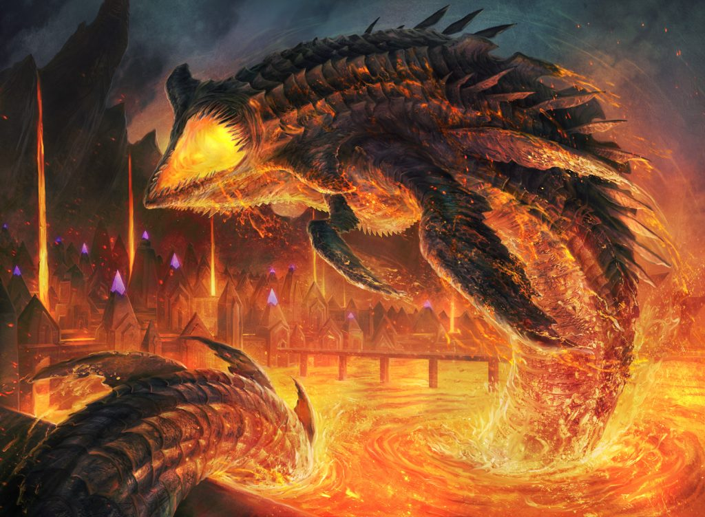 Lava Serpent MTG card art by Jason A. Engle