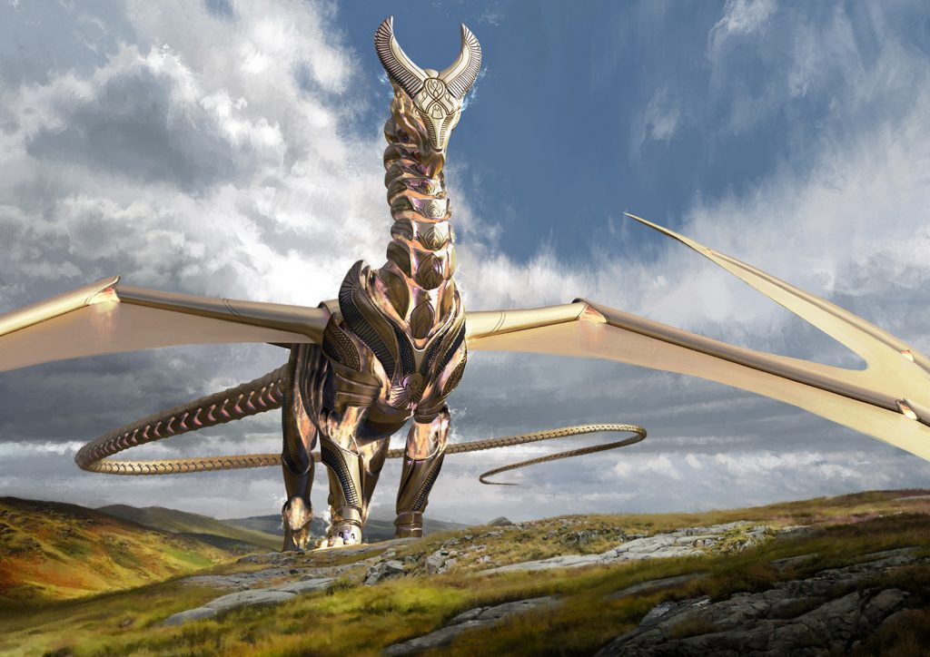 Ramos, Dragon Engine MTG card art by Joseph Meehan