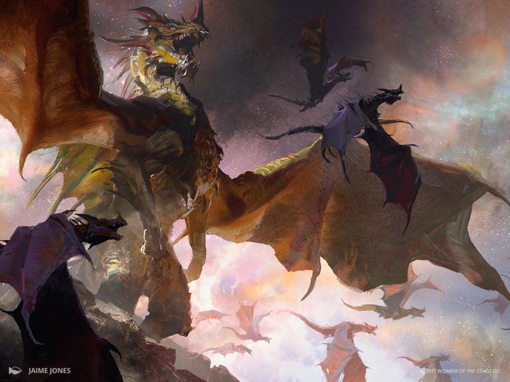 The Ur-Dragon MTG card art by Jaime Jones
