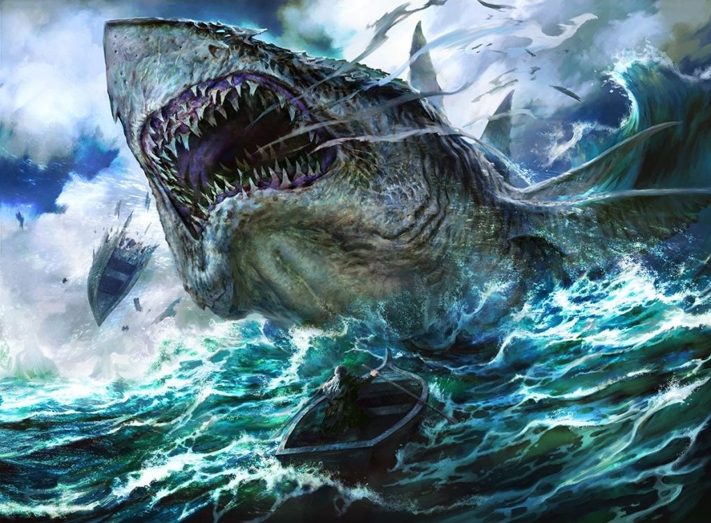 Voracious Greatshark MTG card art by Mathias Kollros