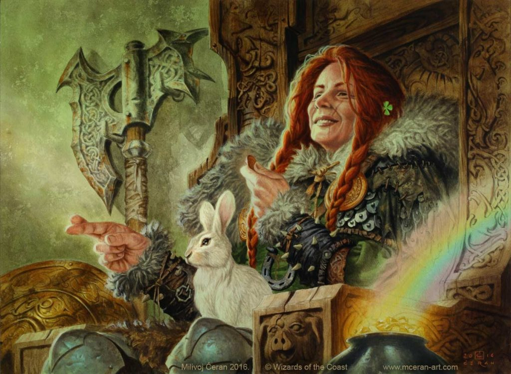 As Luck Would Have It MTG card art by Milivoj Ceran