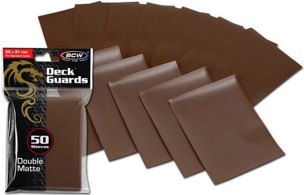 BCW brown matte sleeves